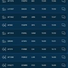Departure list phone