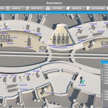 Interface 3D d'aérogare