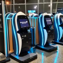 IER 919 Self-Check-in Kiosks for Air New Zealand at Invercargill Airport (New Zealand)